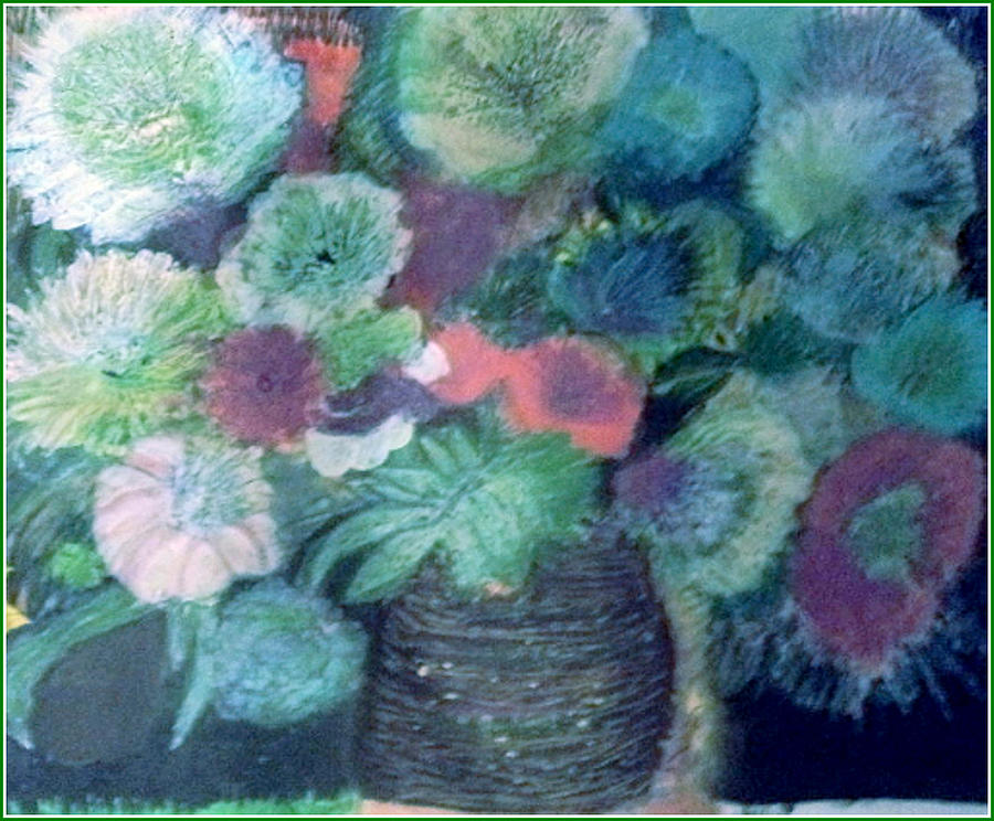 Floral Painting - Floral With Blues by Anne-Elizabeth Whiteway