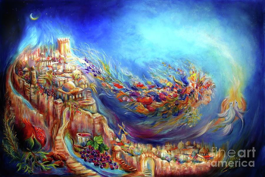 Religous Painting - Floraura De Shabbat  by Mordechai Edel