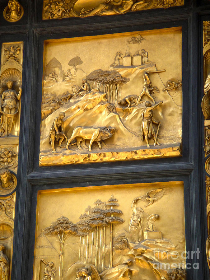Florence Italy Photograph - Florence Italy - Baptistry Doors by Gregory Dyer