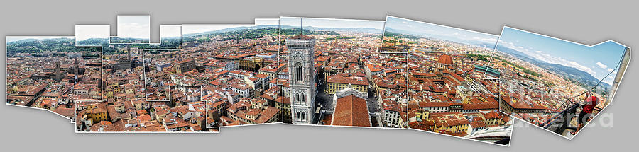 Florence Italy Photograph - Florence Italy - Panorama -01 by Gregory Dyer