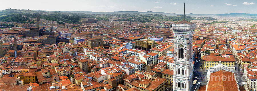 Florence Italy Photograph - Florence Italy - Panorama -02 by Gregory Dyer