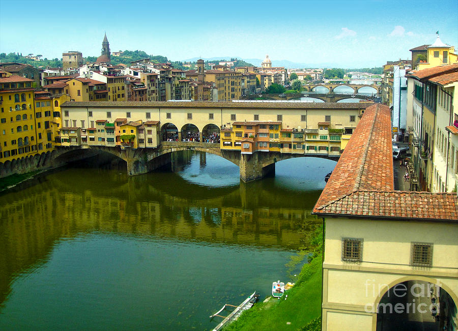 Florence Italy Photograph - Florence Italy - Ponte Vecchio From The Uffizzi by Gregory Dyer