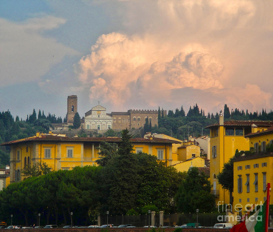 Florence Italy Photograph - Florence Italy - San Miniato Al Monte by Gregory Dyer