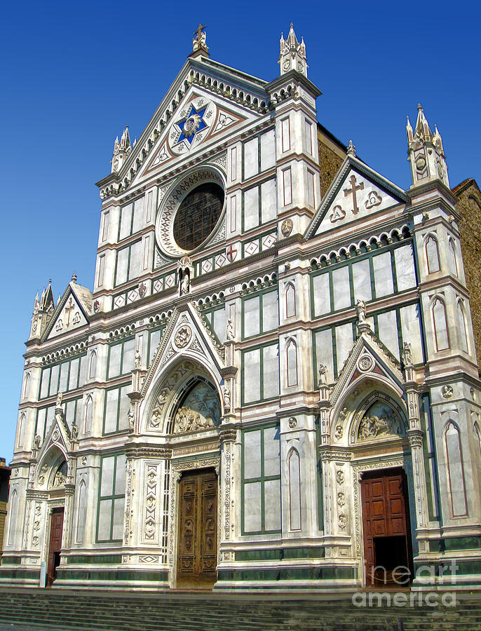 Florence Italy Photograph - Florence Italy - Santa Croce - 02 by Gregory Dyer