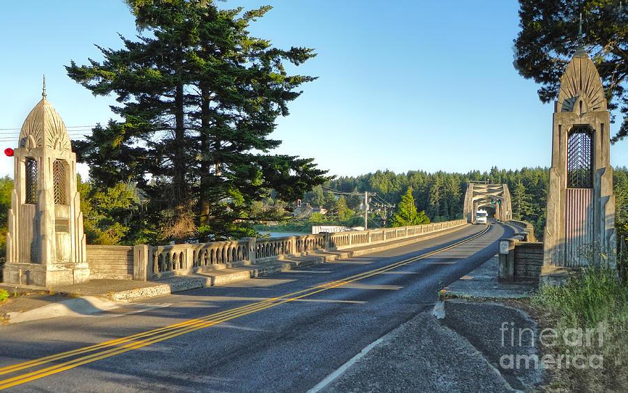 Oregon Photograph - Florence Oregon - Art Deco Bridge - 02 by Gregory Dyer