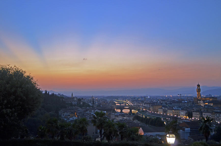 Sunset Photograph - Florence Sunset by La Dolce Vita