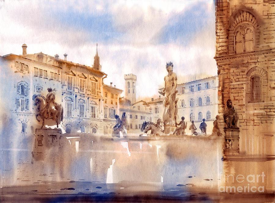 Florence Painting - Florence by Svetlana and Sabir Gadghievs