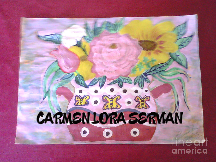 Flores Painting by Mary Carmen Lora Servian