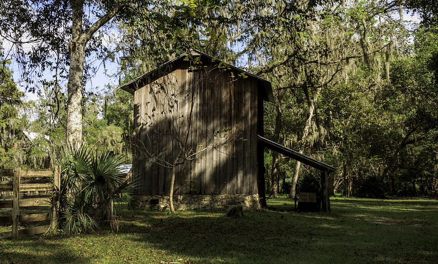 Barn Photograph - Florida Cracker Barn by Lynn Palmer