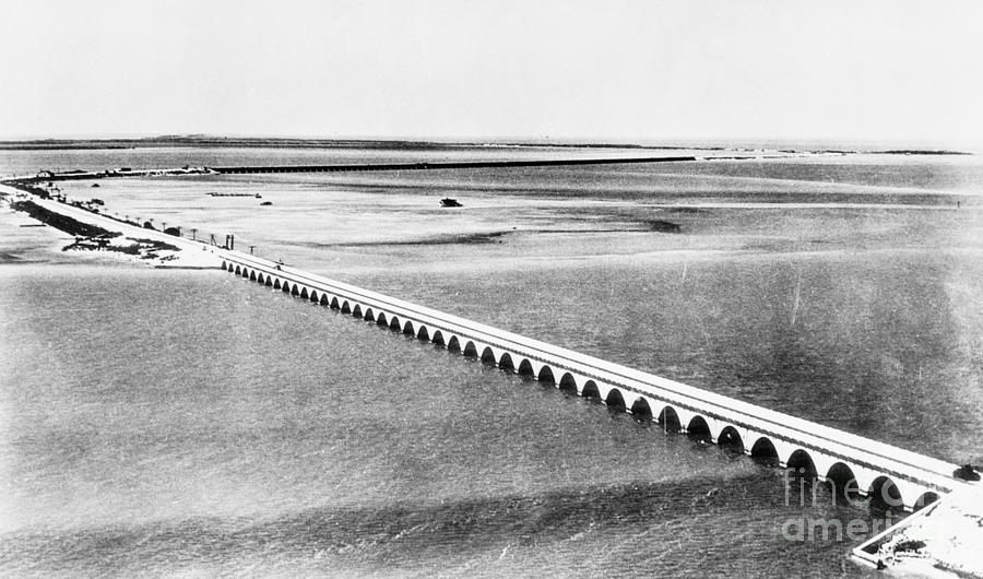 1939 Photograph - Florida: Overseas Bridge by Granger
