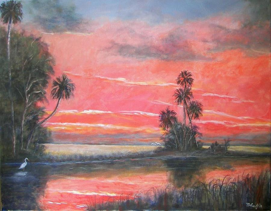 Florida Painting - Florida River Scene by Mike McCaughin