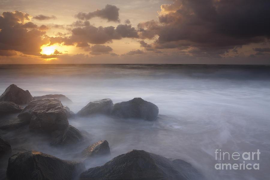 Long Exposure Photograph - Florida Sunrise by Keith Kapple