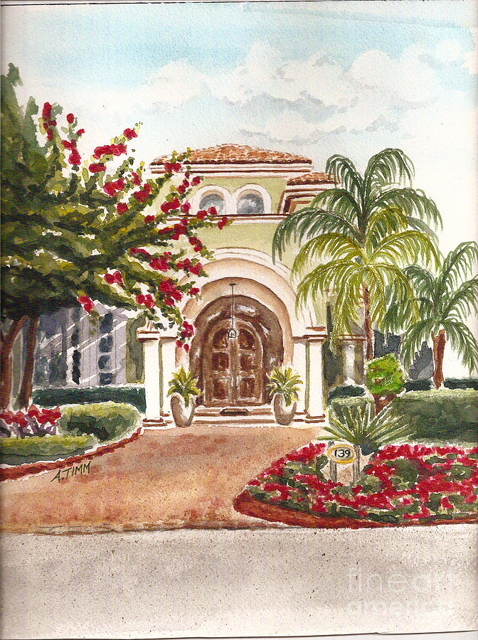 Floridian Ease Painting by Andrea Timm