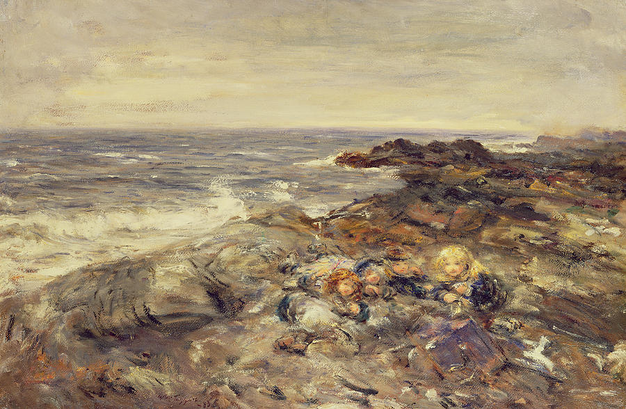 Seashore Painting - Flotsam And Jetsam by William McTaggart