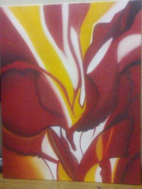 Abstract Painting - Flower Abstract by Divya Garapati
