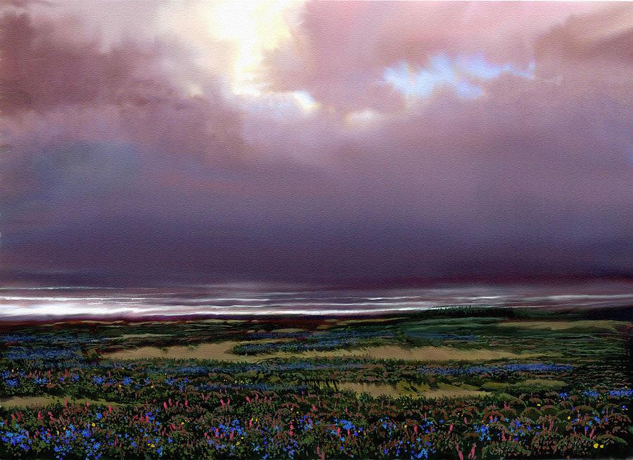 Seascape Painting - Flower Beach by Robert Foster