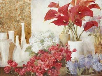 Flower Boutique Painting by Fabrice de Villeneuve