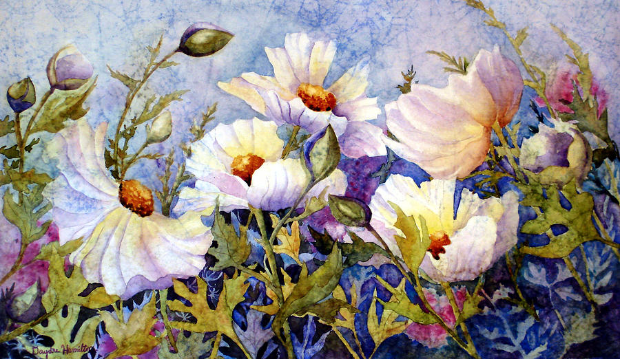Masa Paper Painting - Flower Fantasy by Daydre Hamilton