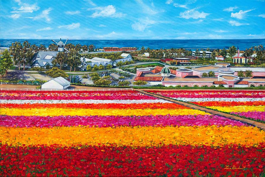 Ca Painting - Flower Fields by Lisa Reinhardt