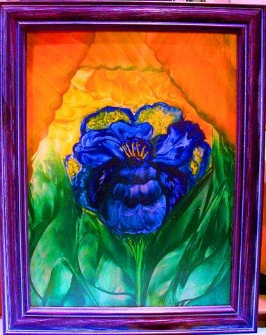 Flowers Painting - Flower Indigo by Jeanne Mytareva