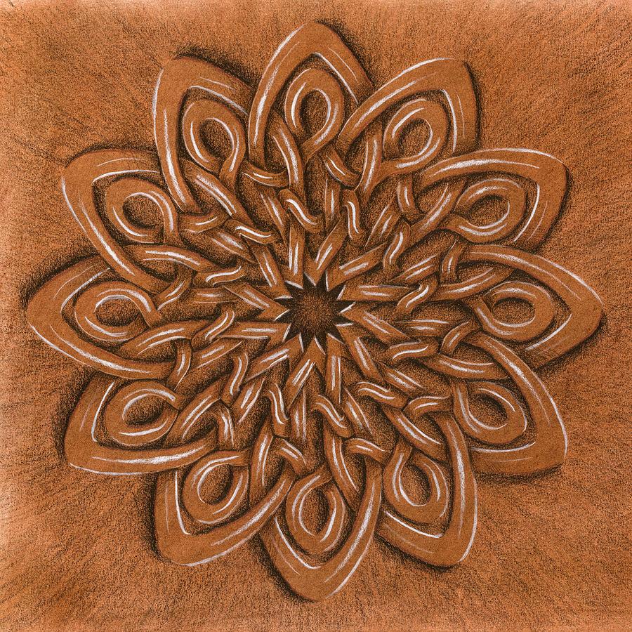 Mandala Painting - Flower Mandala by Hakon Soreide