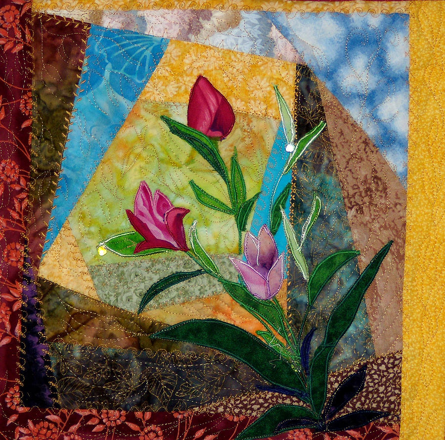 Flowers Tapestry - Textile - Flower On The Mountain by Maureen Wartski