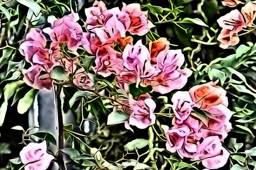 Metro Digital Art - Flower Painting 0003 by Metro DC Photography