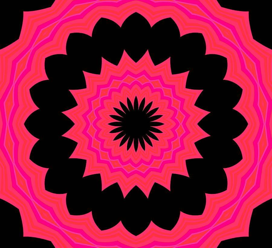 Abstract Digital Art - Flower Power by Carolyn Repka