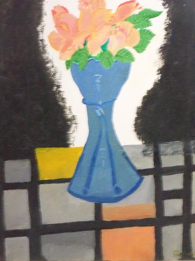 Real Life Imitation Painting - Flower Vase by Rahul narasimhan