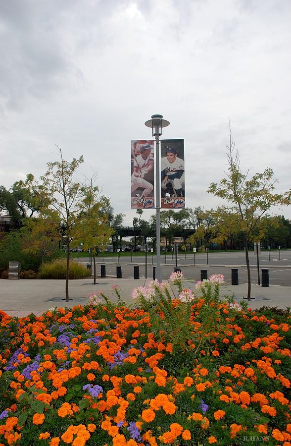 Shea Stadium Photograph - Flowers At Citi Field by Rob Hans