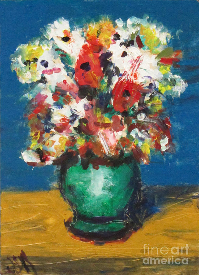 Flowers Painting - Flowers For Shakespeare by David Abse