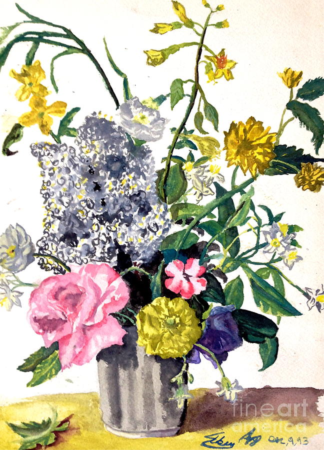Flowers Painting - Flowers by Mike N