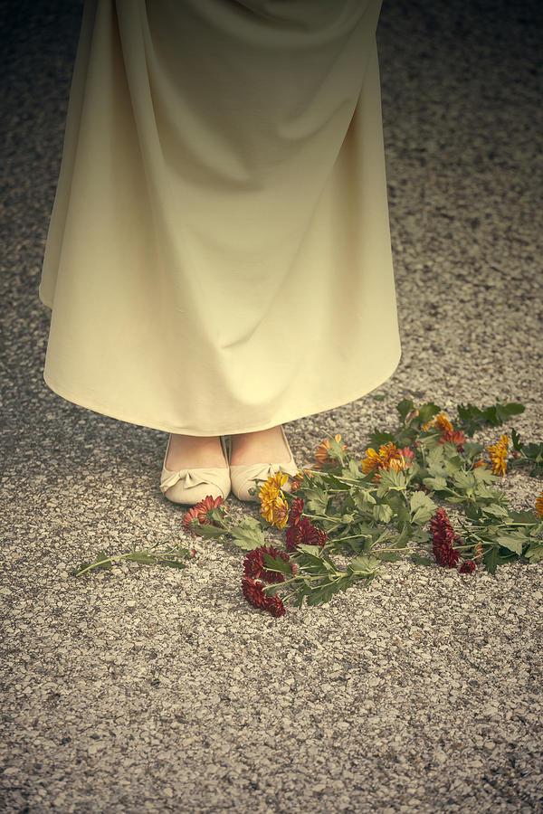 Woman Photograph - Flowers On The Street by Joana Kruse