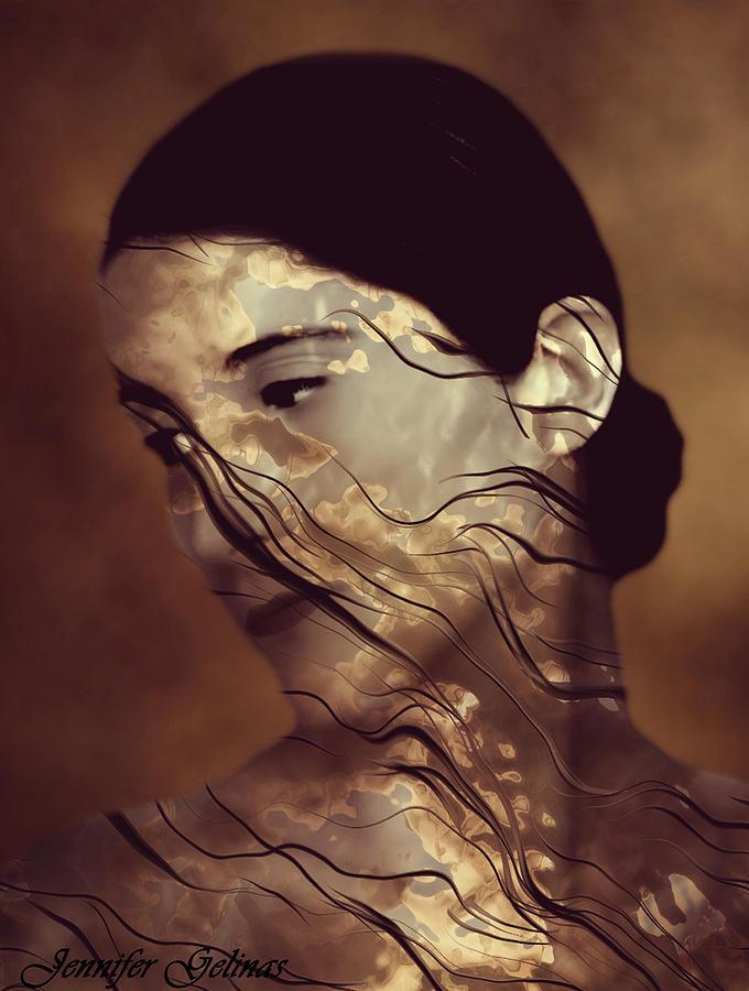 Artistic Digital Art - Flowing by Jennifer Gelinas