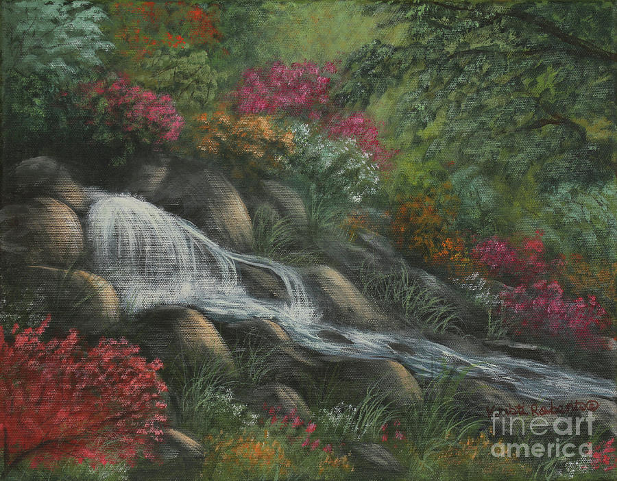 Landscape Painting - Flowing Waters by Kristi Roberts