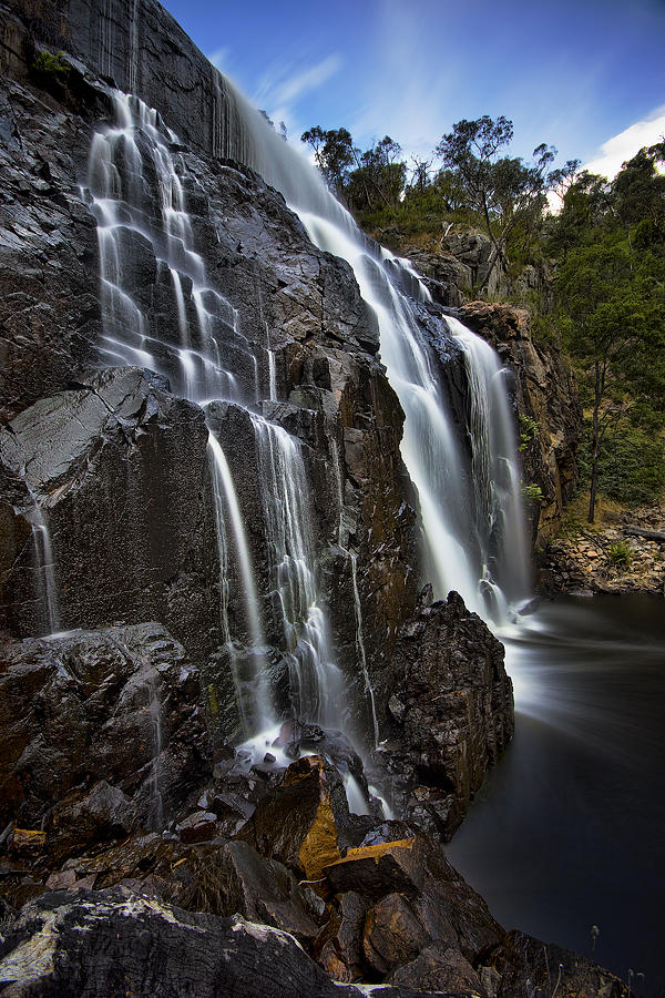 Waterfall Photograph - Flows by Dave Cox