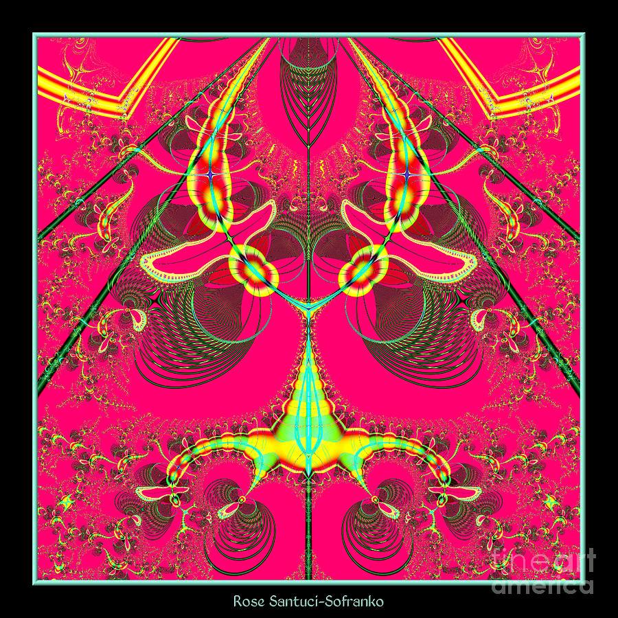 Alien Digital Art - Fluorescent Alien Lady Bug Fractal 70 by Rose Santuci-Sofranko