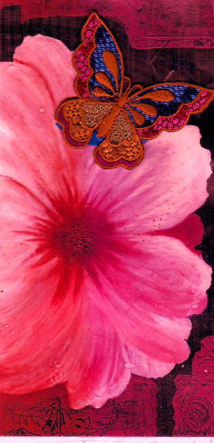Pink Painting - Flutter By The Flower  by Anne-Elizabeth Whiteway