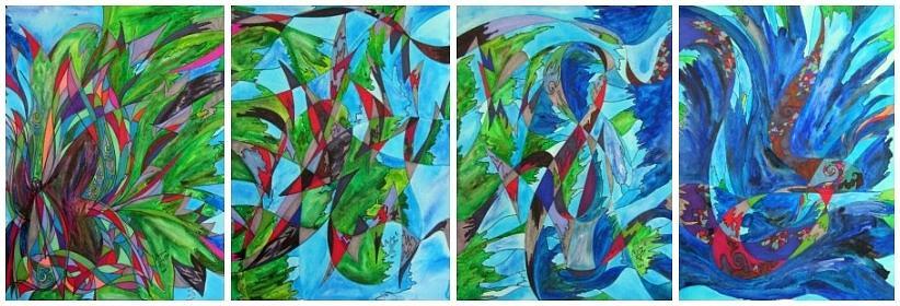 Flutter Painting - Fluttering by Christine Bonnie Ghattas