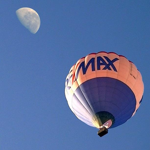 Balloon Photograph - Fly Me To The Moon by Cameron Bentley