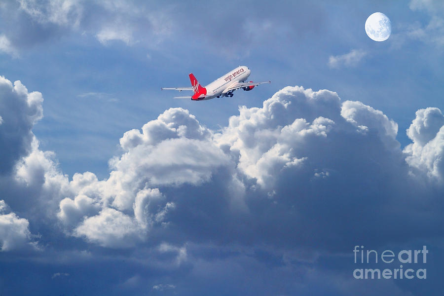 Wingsdomain Photograph - Fly Me To The Moon by Wingsdomain Art and Photography