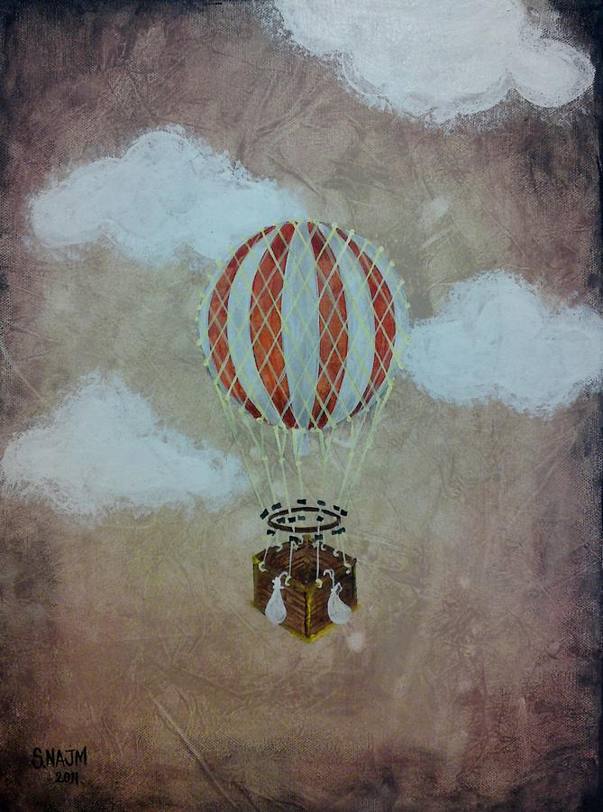 Air Balloon Painting - Fly by Salwa  Najm