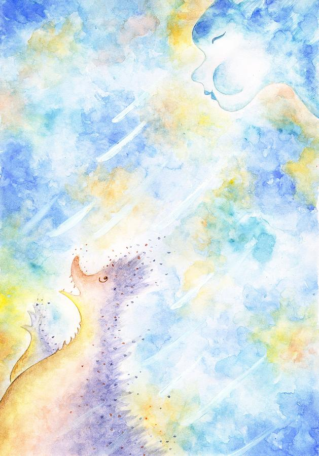 Fantasy Paintings Painting - Flying Away by Asida Cheng