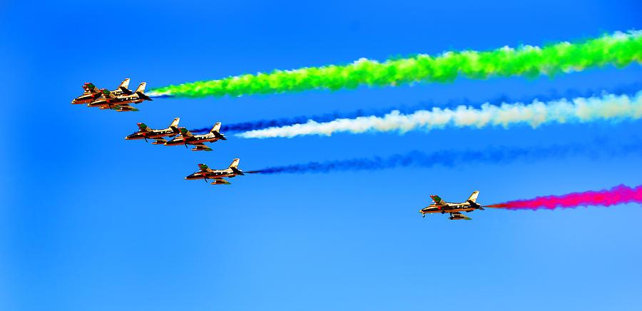 Blue Photograph - Flying Colors by Farah Faizal