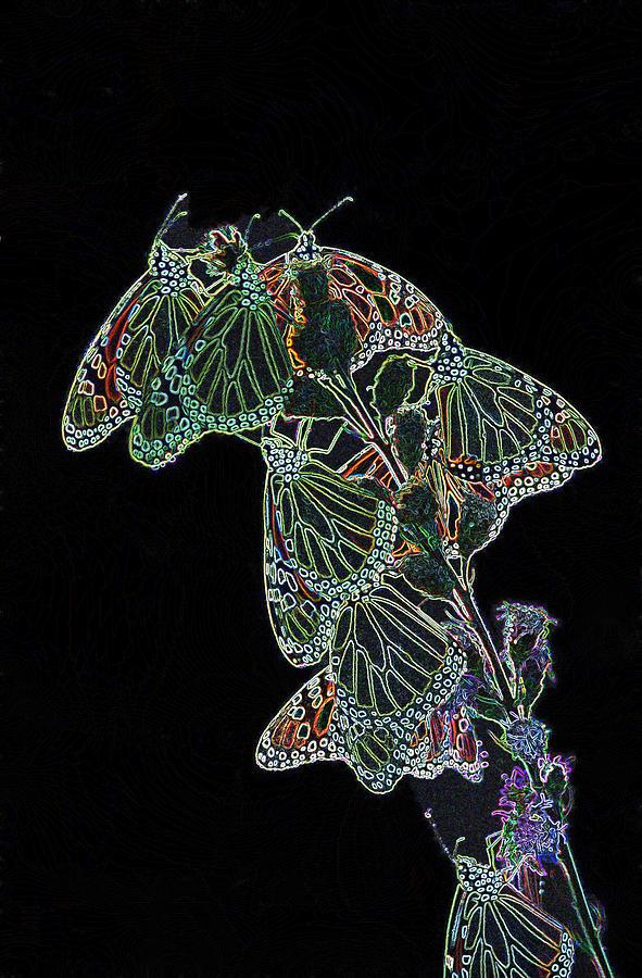 Butterflies Digital Art - Flying Diamonds by Rick Rauzi