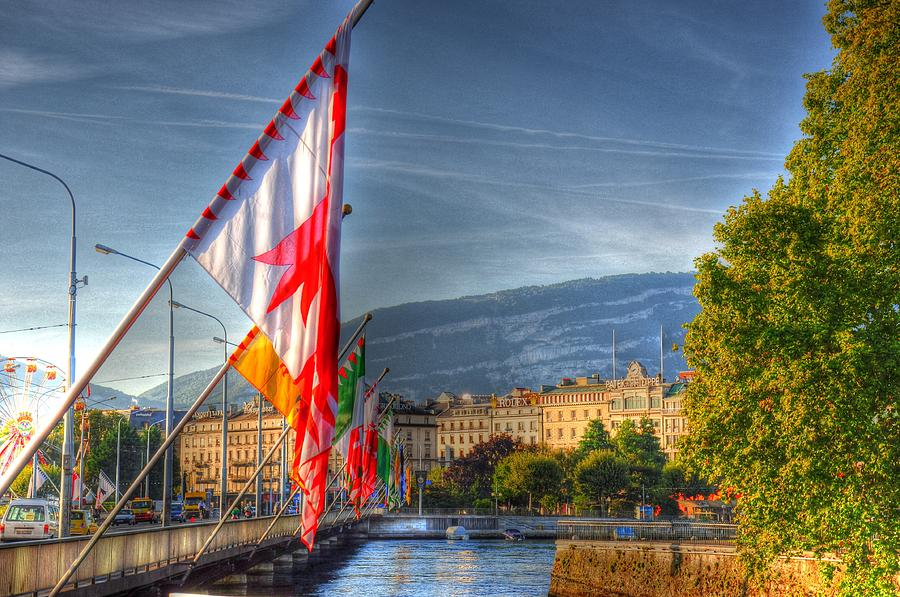 Malmo Digital Art - Flying Flags by Barry R Jones Jr