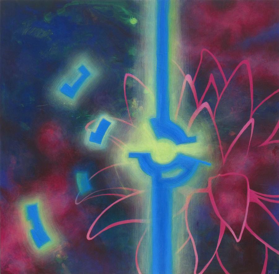 Lotus Painting - Flying Lotus by Monica James