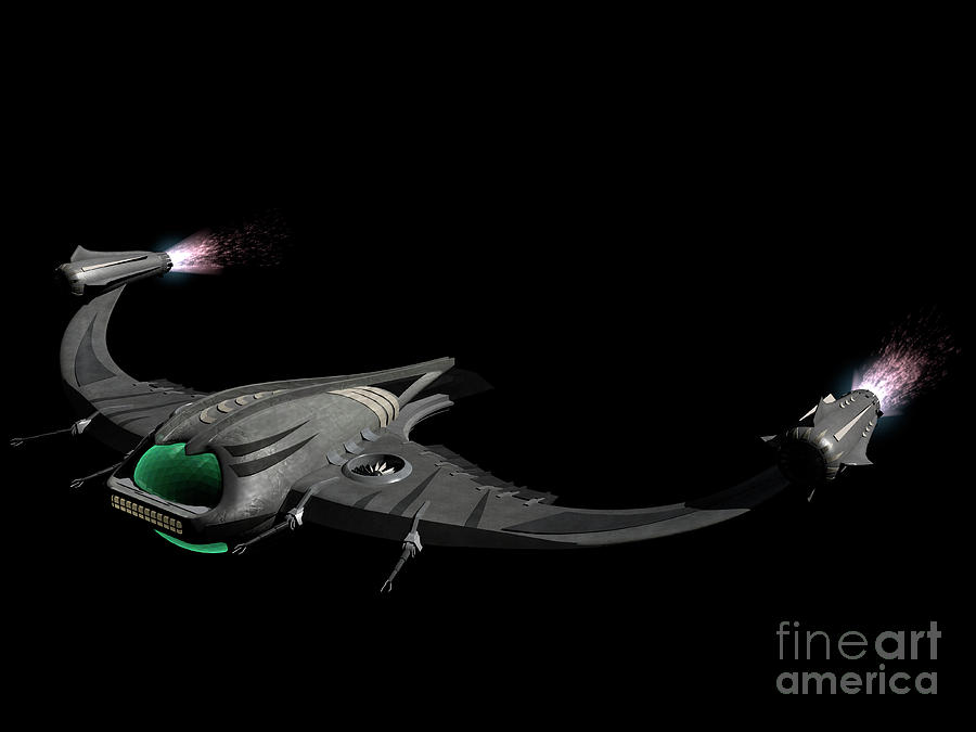 Horizontal Digital Art - Flying Machine Inspired By The Martians by Rhys Taylor