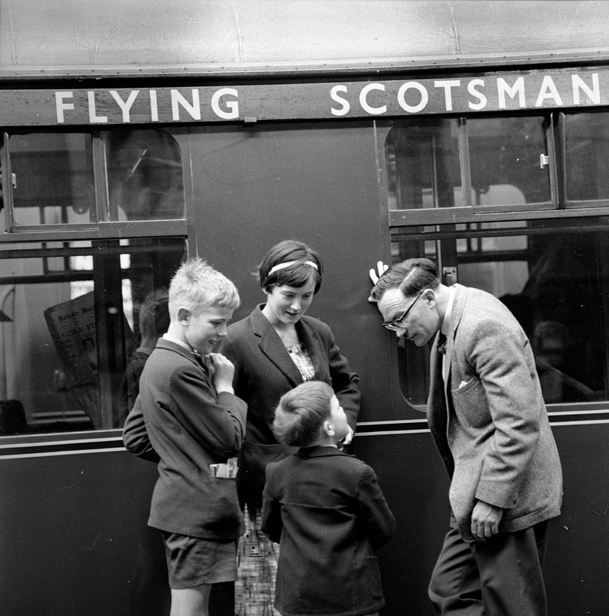 Child Photograph - Flying Scotsman by John Drysdale