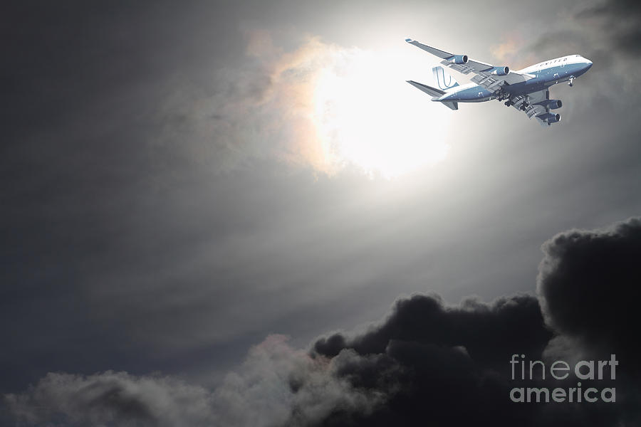 Sky Photograph - Flying The Friendly Skies by Wingsdomain Art and Photography